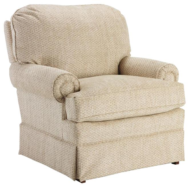 Studio 47 Braxton Swivel Glider Club Chair With Welt Cord