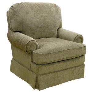Morris Home Furnishings Braxton  Swivel Glider Club Chair