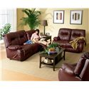 Best Home Furnishings Brinley 2 Brinley Space Saver Reclining Loveseat - Shown with Coordinating Sofa and Recliner