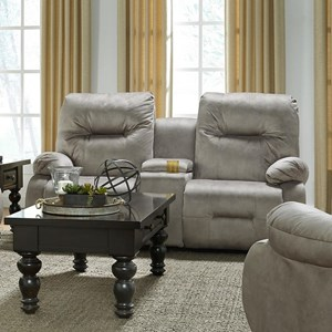 Best Home Furnishings Brinley 2 Space Saver Console Loveseat