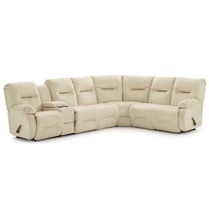 Morris Home Furnishings Brinley 2 Reclining Sectional Sofa
