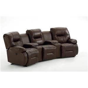 Best Home Furnishings Brinley 2 5 Pc Power Reclining Home Theater Group