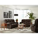 Best Home Furnishings Brinley 2 Power Reclining Sofa with Power Tilt Headrest - Sofa shown may not represent exact features indicated
