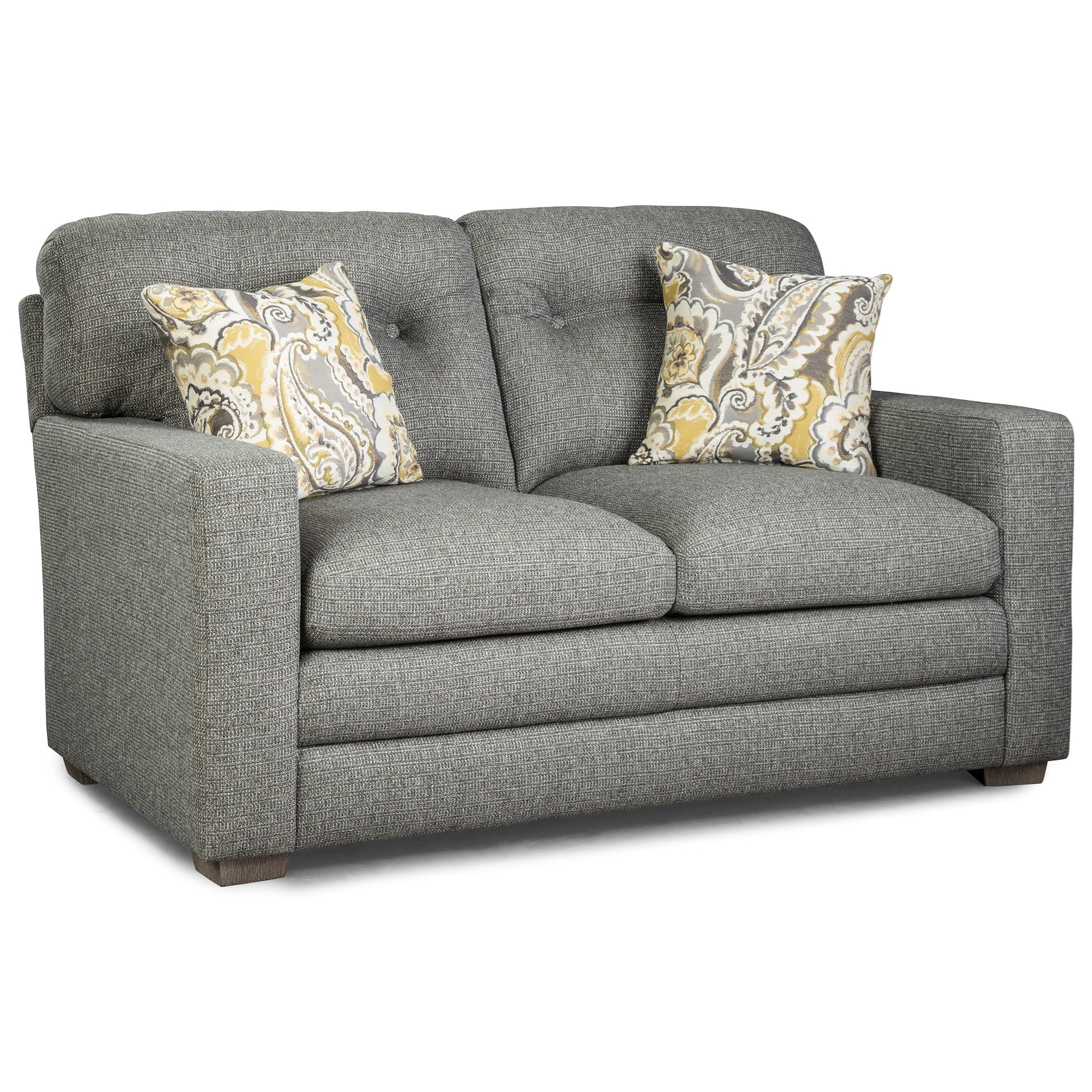 Cabrillo Contemporary Tufted Loveseat by Best Home Furnishings at Wayside  Furniture