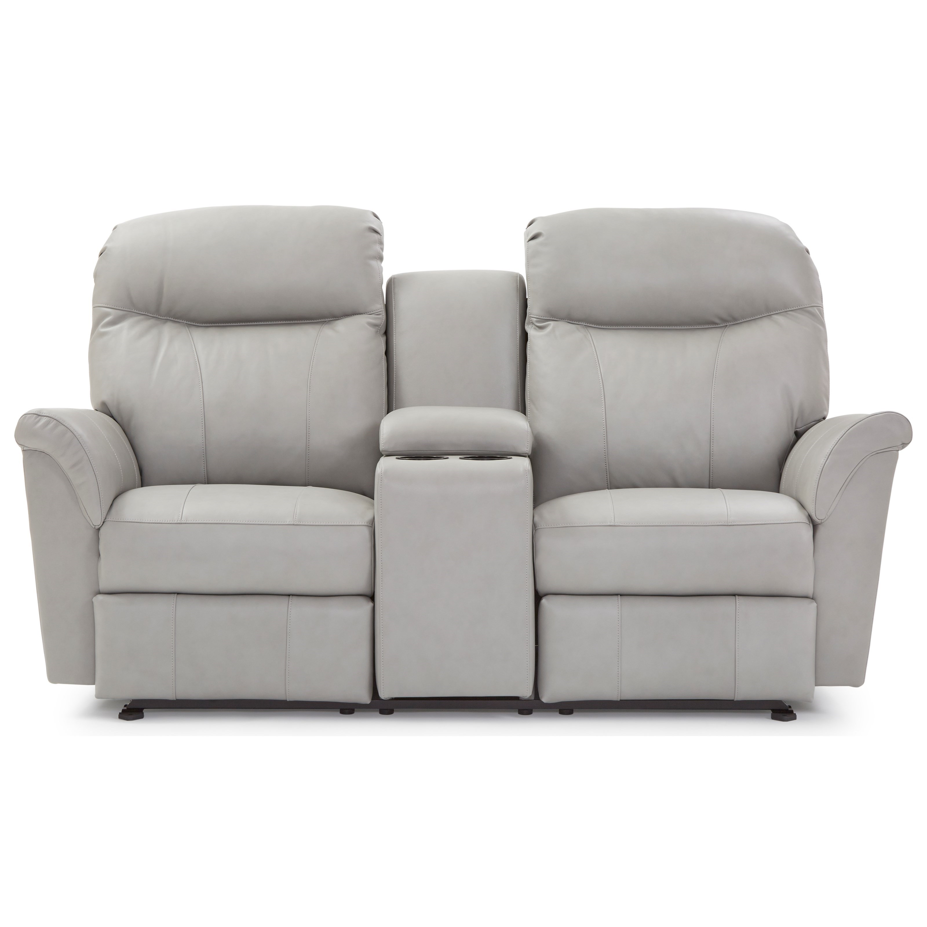 Caitlin Rocking Reclining Console Loveseat by Best Home Furnishings at Best Home Furnishings