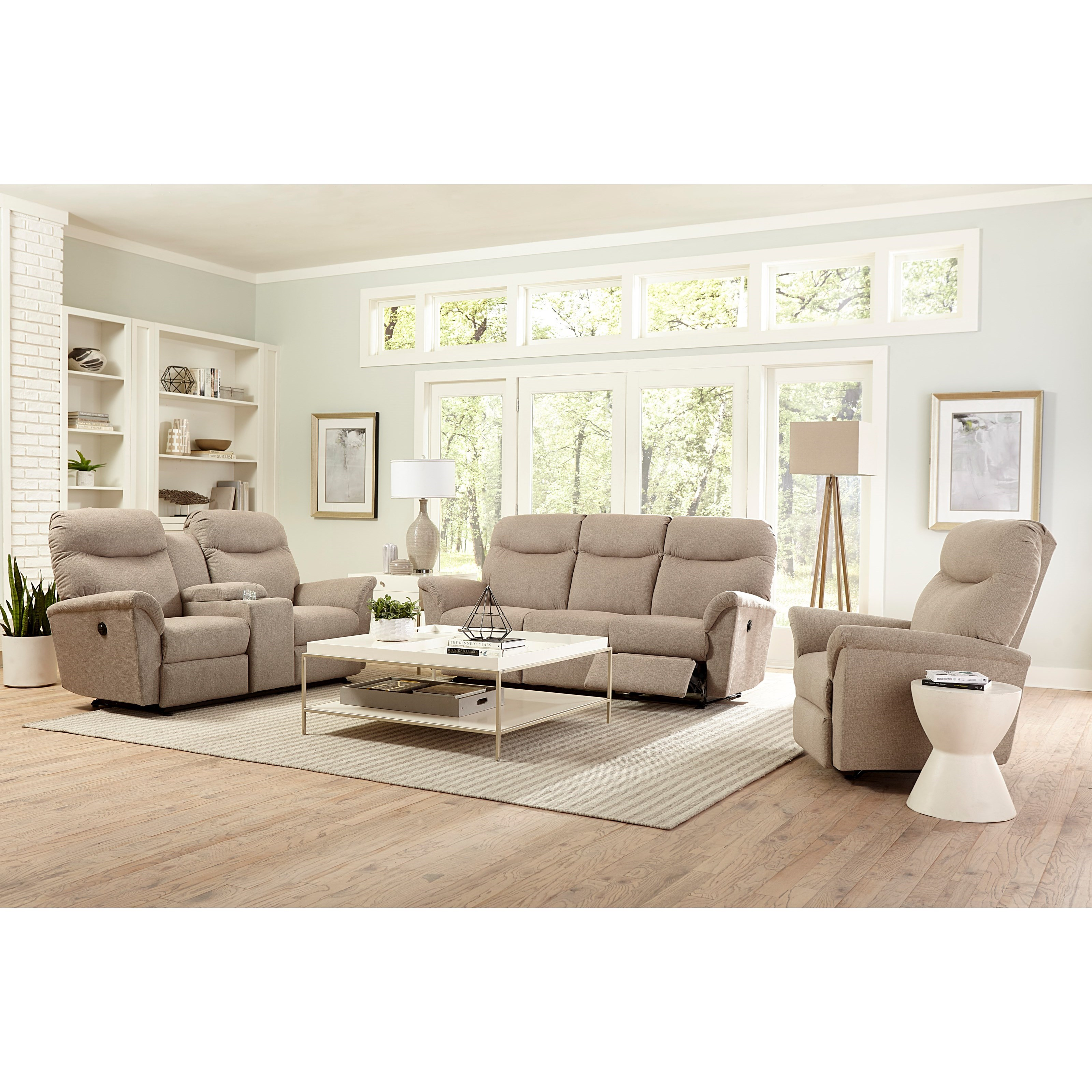 Best Home Furnishings Caitlin Casual Reclining Space Saver