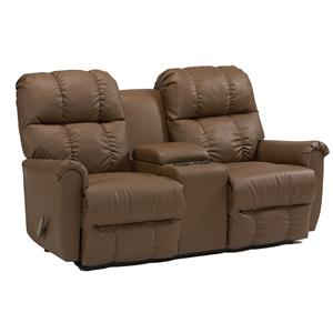 Best Home Furnishings Camryn BHF Space Saver Reclining Loveseat w/ Console