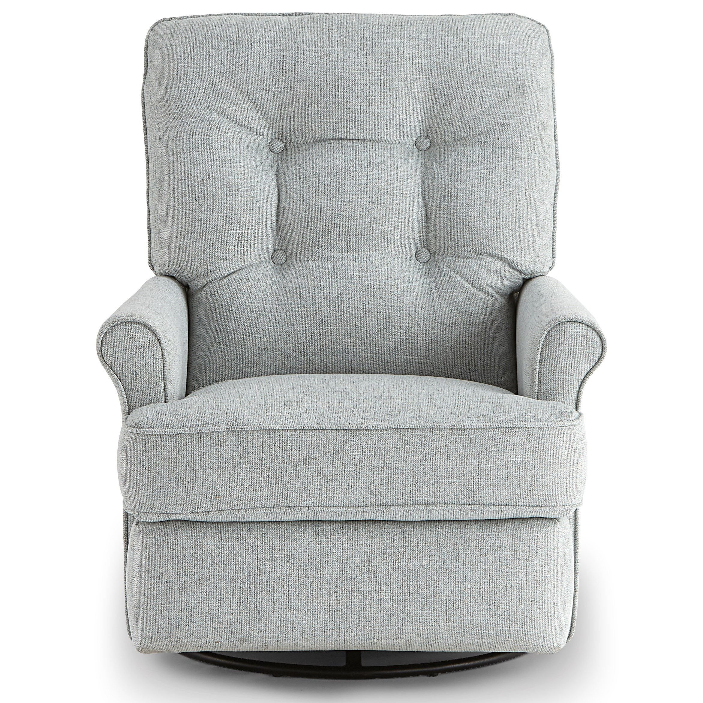 Carissa Swivel Glider Recliner w/ Inside Handle by Best Home Furnishings at Walker's Furniture