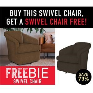 Carraway Swivel Chair with Freebie Chair!