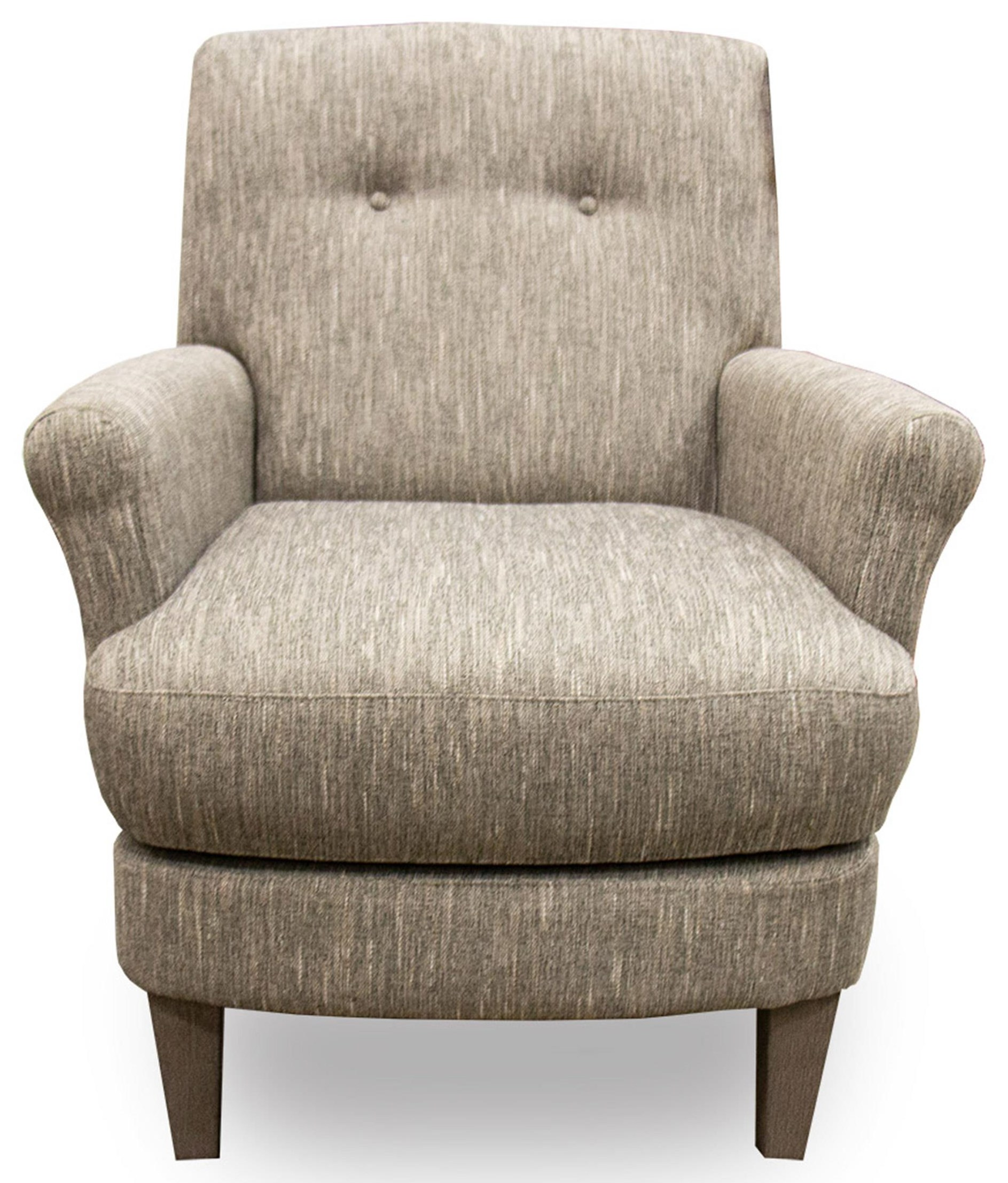 Linen Swivel Barrel Chair with Wood Legs
