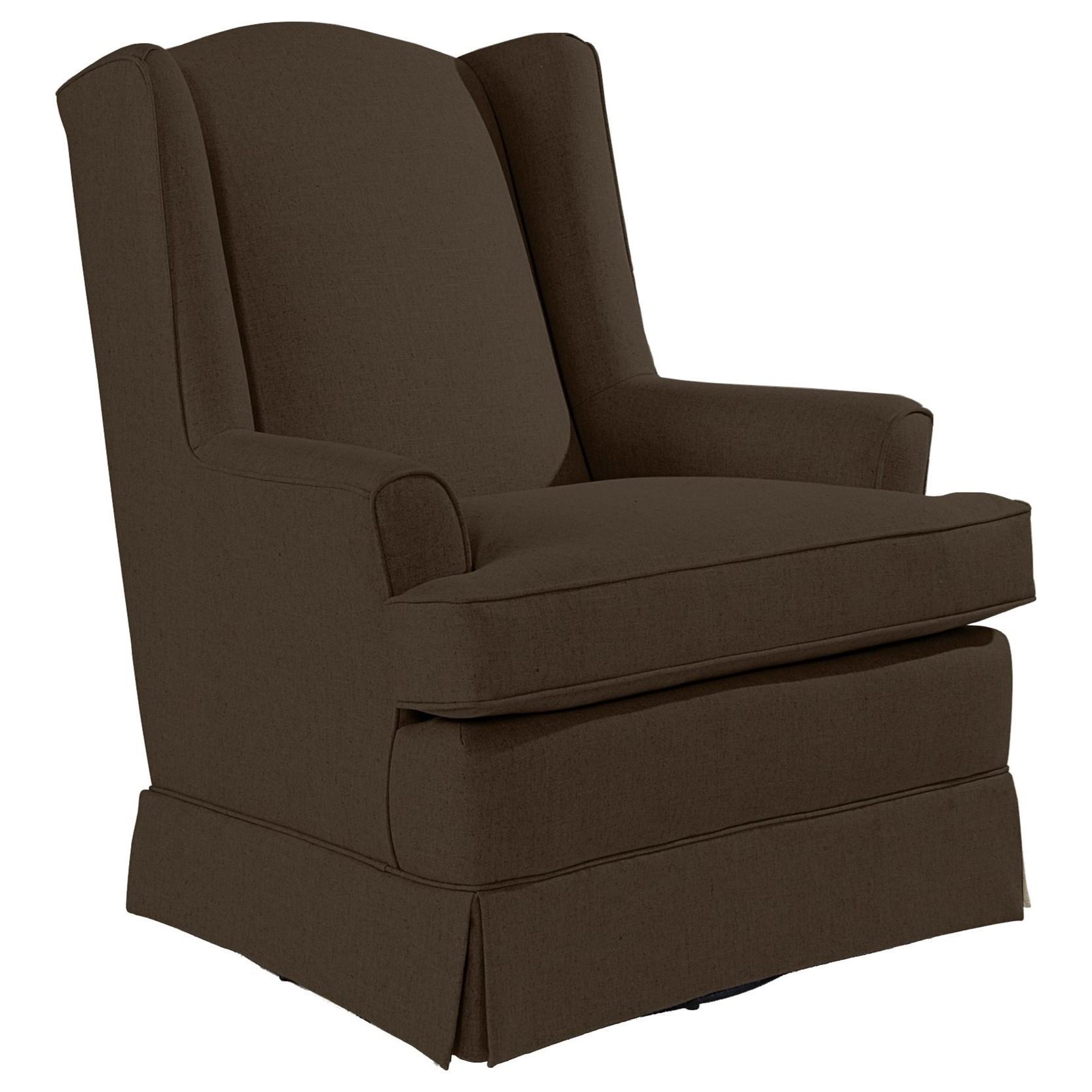 Best Home Furnishings Chairs - Swivel Glide Natasha Swivel Glider - Item Number: -1331134059-23286D