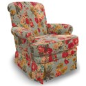 Best Home Furnishings Chairs - Swivel Glide Nava Swivel Glider Chair - Item Number: 1217-34223