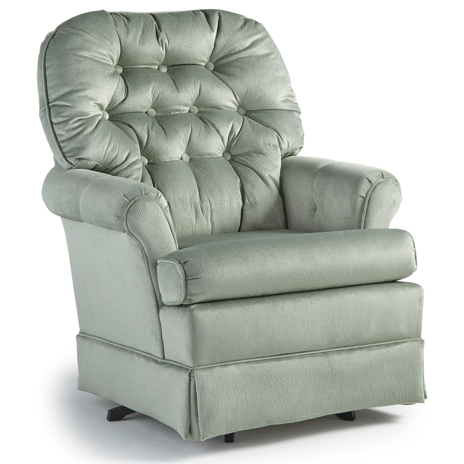Best Home Furnishings Chairs - Swivel Glide Marla Swivel Glider Chair - Item Number: 1556