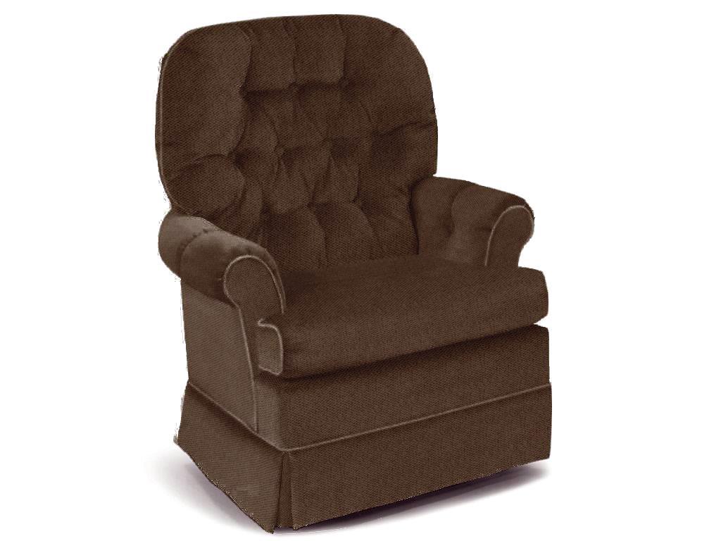 Espresso Swivel Rocker Chair