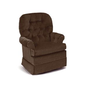 Espresso Swivel Rocker Chair