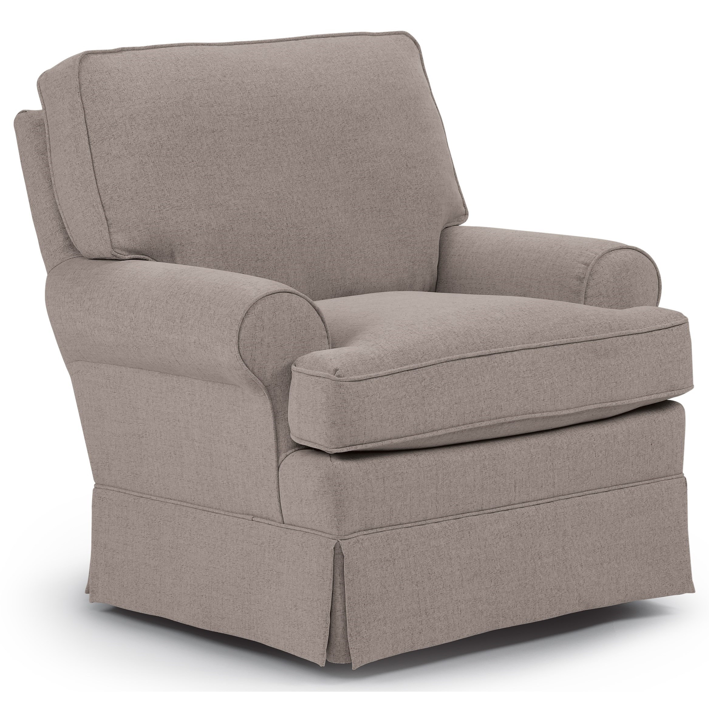 Swivel Glider Chair with Welt Cord Trim