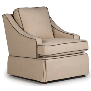 Best Home Furnishings Swivel Glide Chairs Ayla Swivel Glider