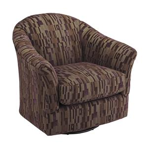 Morris Home Furnishings Chairs - Swivel Glide Darby Swivel Glider