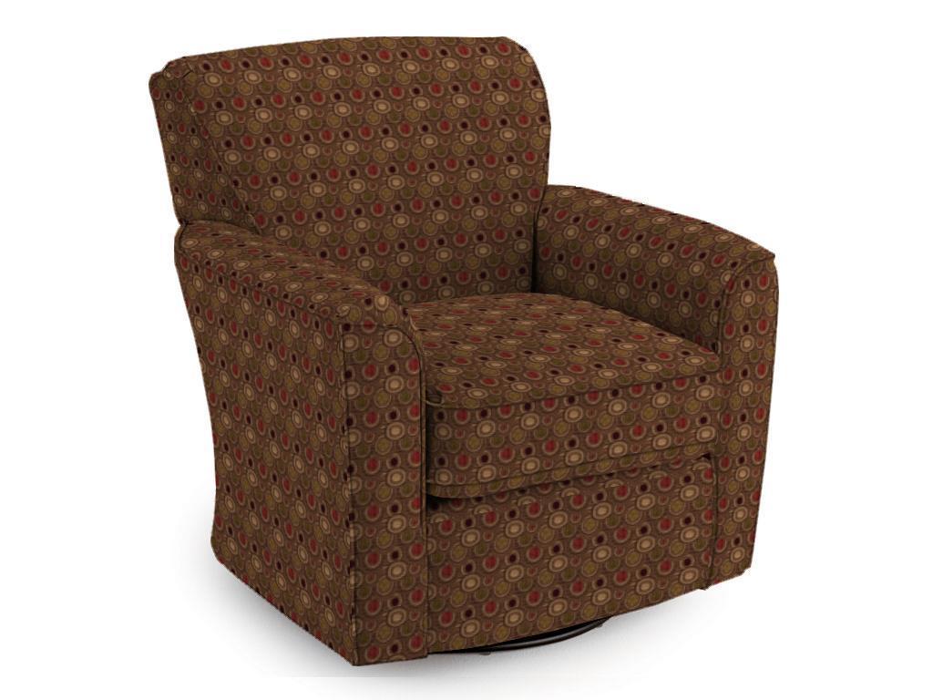 Best Home Furnishings Chairs - Swivel Glide Kaylee Swivel Barrel Chair - Item Number: 2887 - Dove Bar