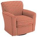 Best Home Furnishings Swivel Glide Chairs Kaylee Swivel Barrel Chair - Item Number: 2887-28068