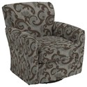 Best Home Furnishings Swivel Glide Chairs Kaylee Swivel Barrel Chair - Item Number: 2887-28823