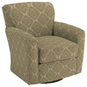 Best Home Furnishings Swivel Glide Chairs Kaylee Swivel Barrel Chair - Item Number: 2887-34569