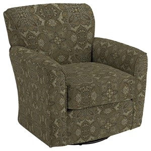 Best Home Furnishings Swivel Glide Chairs Kaylee Swivel Barrel Chair