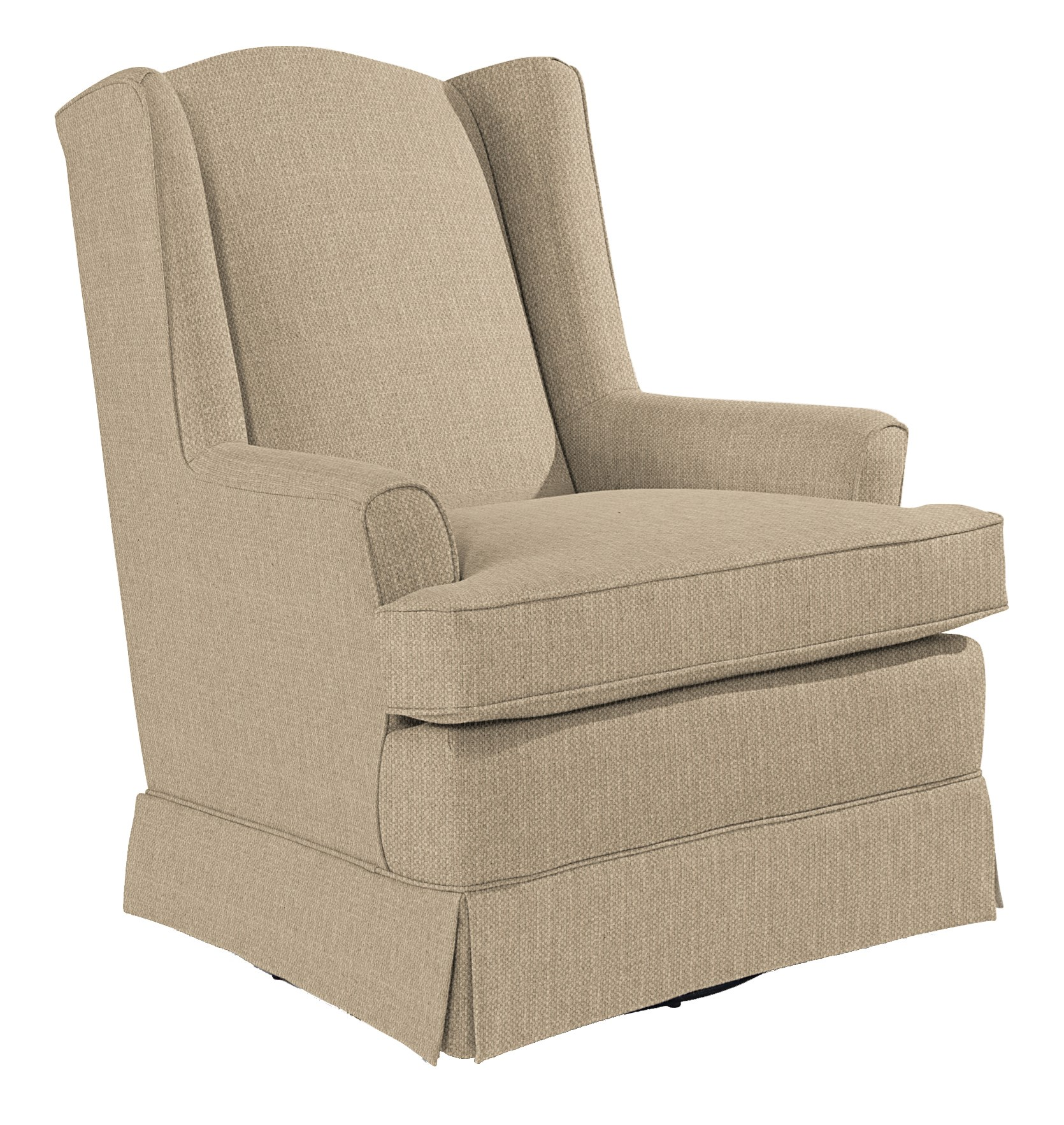 Best Home Furnishings Chairs - Swivel Glide Natasha Swivel Glider - Item Number: 7147-20007