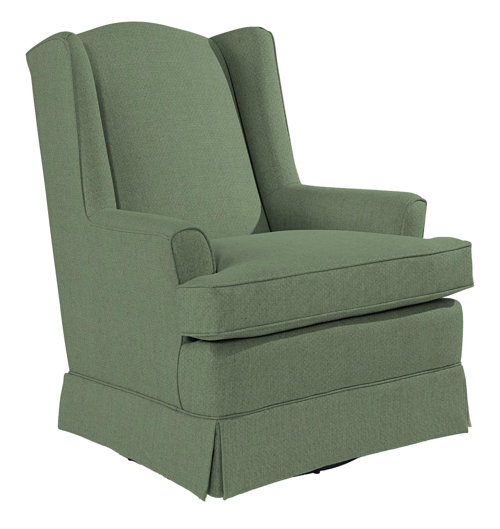 Best Home Furnishings Chairs - Swivel Glide Natasha Swivel Glider - Item Number: 7147-20021