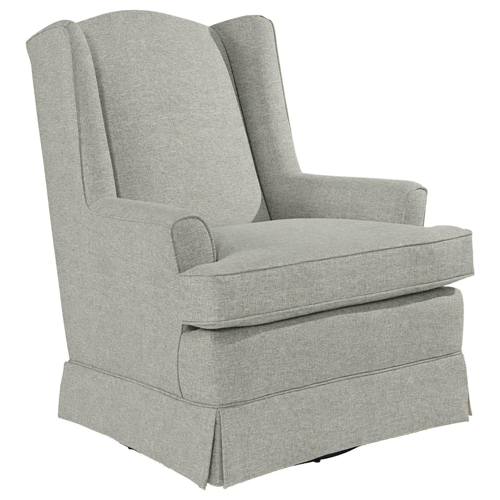Best Home Furnishings Chairs - Swivel Glide Natasha Swivel Glider - Item Number: 7147-21649