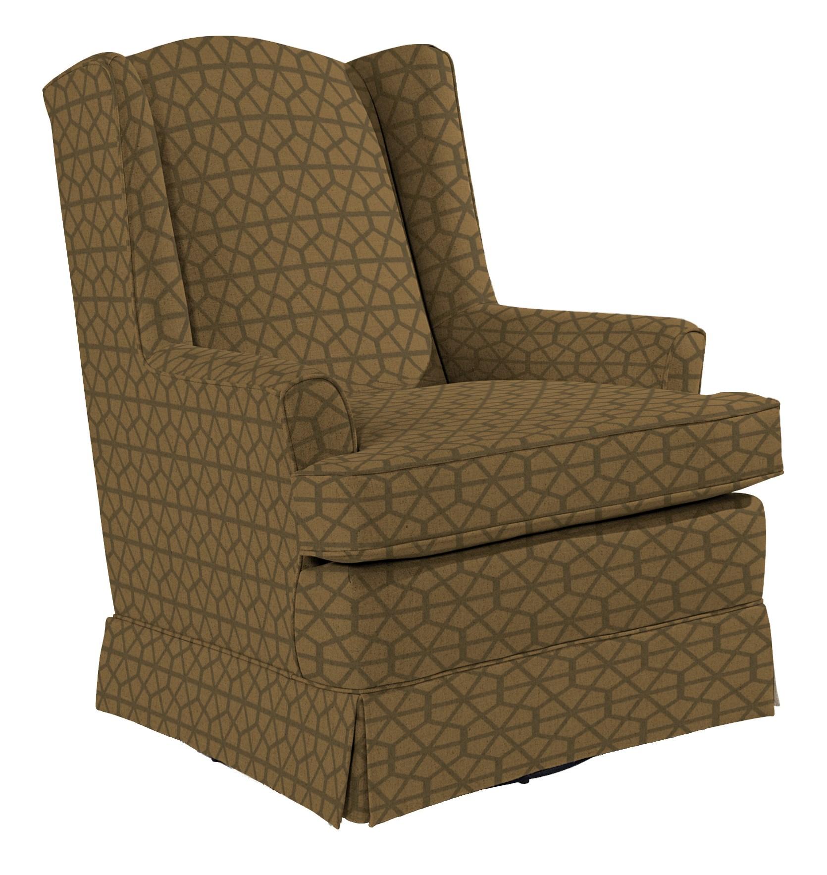 Best Home Furnishings Chairs - Swivel Glide Natasha Swivel Glider - Item Number: 7147-29099