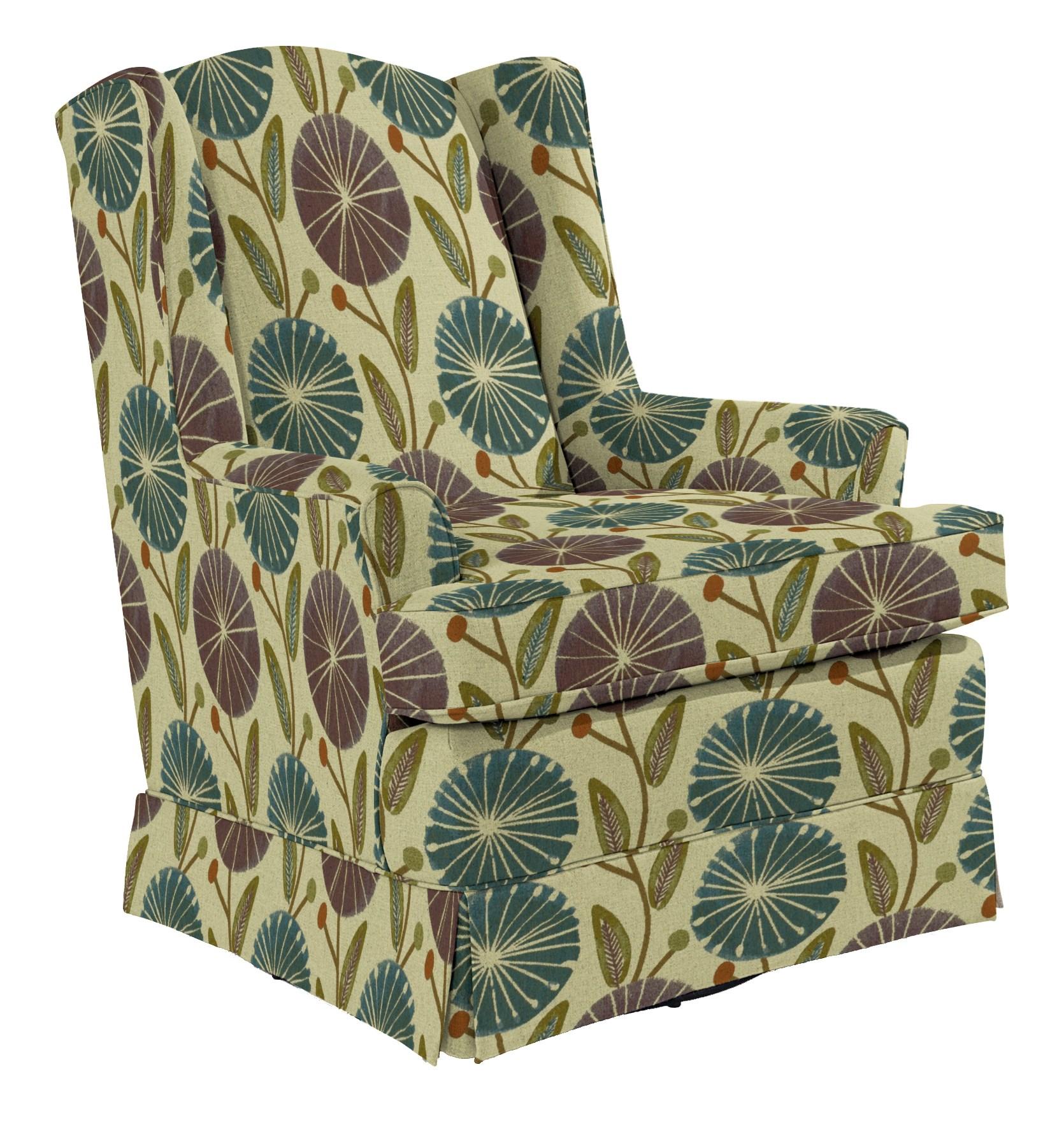 Best Home Furnishings Chairs - Swivel Glide Natasha Swivel Glider - Item Number: 7147-31747