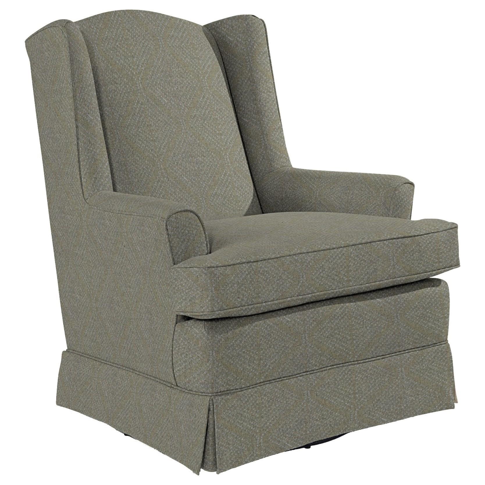 Best Home Furnishings Chairs - Swivel Glide Natasha Swivel Glider - Item Number: 7147-34573