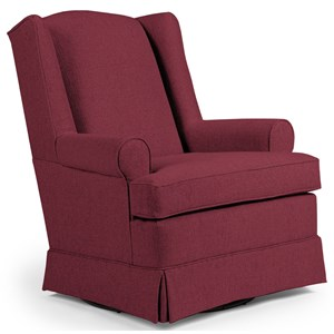 Morris Home Furnishings Chairs - Swivel Glide Roni Swivel Glider Chair