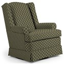 Best Home Furnishings Swivel Glide Chairs Roni Swivel Glider Chair - Item Number: 7197-27063