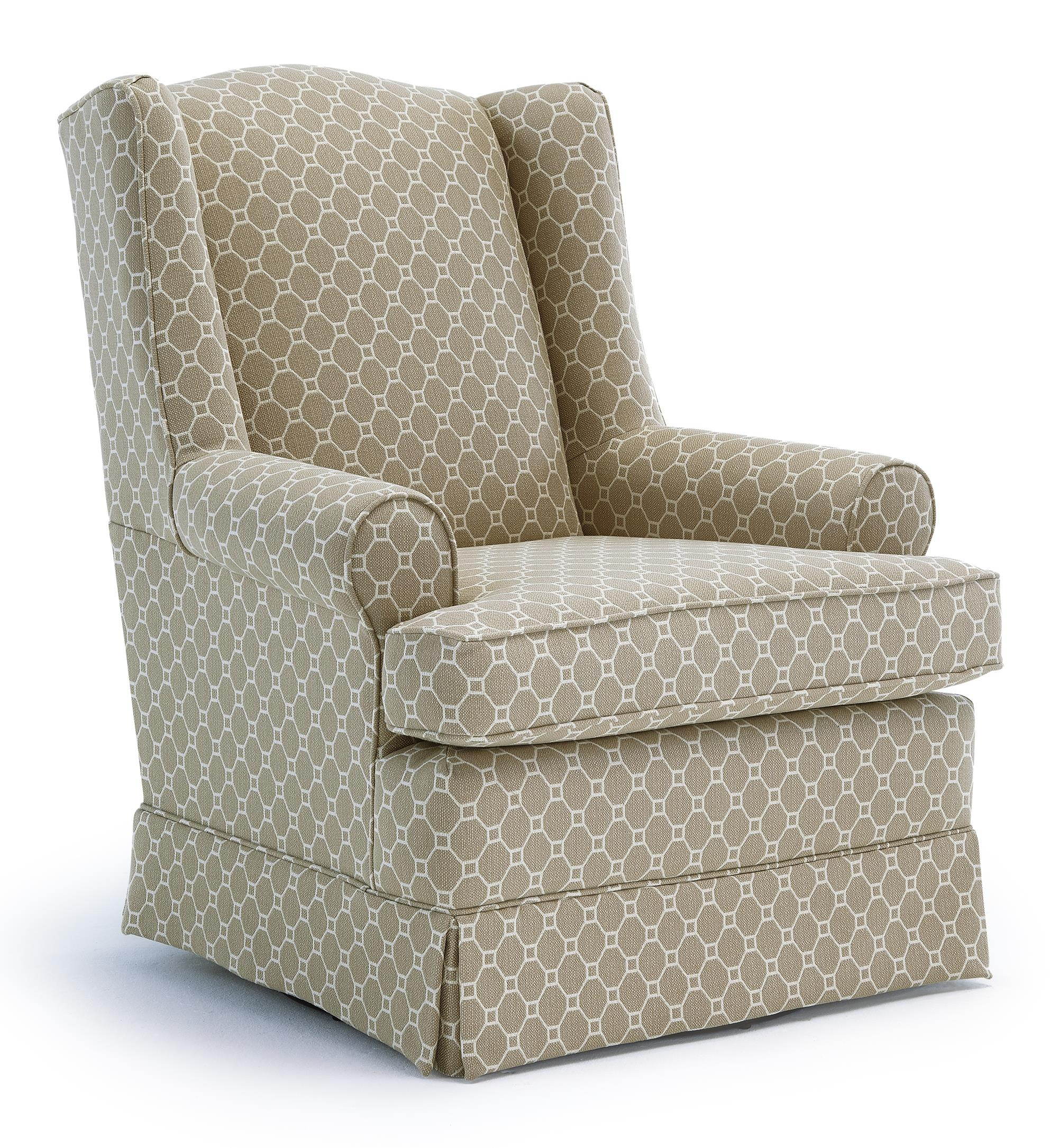 Best Home Furnishings Chairs - Swivel Glide Roni Swivel Glider Chair - Item Number: 7197-27069