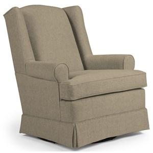 Best Home Furnishings Chairs - Swivel Glide Roni Swivel Glider Chair