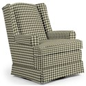 Best Home Furnishings Chairs - Swivel Glide Roni Swivel Glider Chair - Item Number: 7197-28063