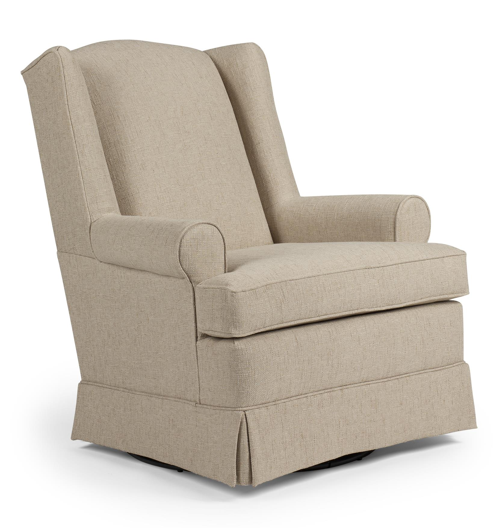 Best Home Furnishings Chairs - Swivel Glide Roni Swivel Glider Chair - Item Number: 7197-28229
