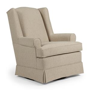 Best Home Furnishings Swivel Glide Chairs Roni Swivel Glider Chair