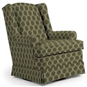 Best Home Furnishings Swivel Glide Chairs Roni Swivel Glider Chair - Item Number: 7197-28423