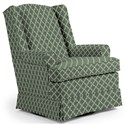 Best Home Furnishings Swivel Glide Chairs Roni Swivel Glider Chair - Item Number: 7197-28842