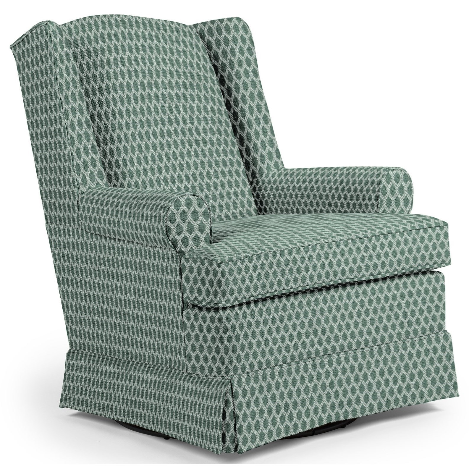 Best Home Furnishings Chairs - Swivel Glide Roni Swivel Glider Chair - Item Number: 7197-33542A