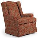 Best Home Furnishings Swivel Glide Chairs Roni Swivel Glider Chair - Item Number: 7197-34064