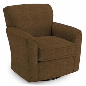 Morris Home Furnishings Chairs - Swivel Glide Kaylee Swivel Barrel Chair