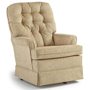 Best Home Furnishings Swivel Glide Chairs Joplin Swivel Rocker Chair