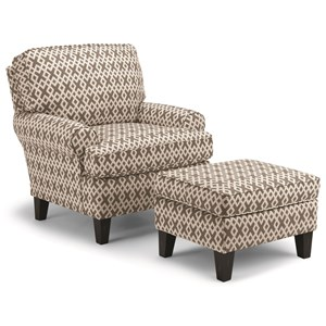Best Home Furnishings Club Chairs Mayci Chair & Ottoman