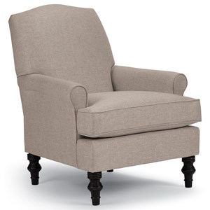 Best Home Furnishings Club Chairs Camel-Back Club Chair