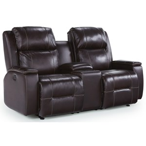 Best Home Furnishings Colton Pwr Reclining Console Love w/ Pwr Headrest