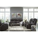 Best Home Furnishings Colton Power Rocking Reclining Console Loveseat with Power Tilt Headrest